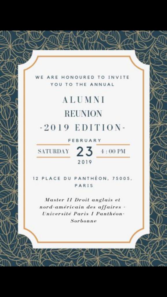 2019 02 23 - Alumni reunion