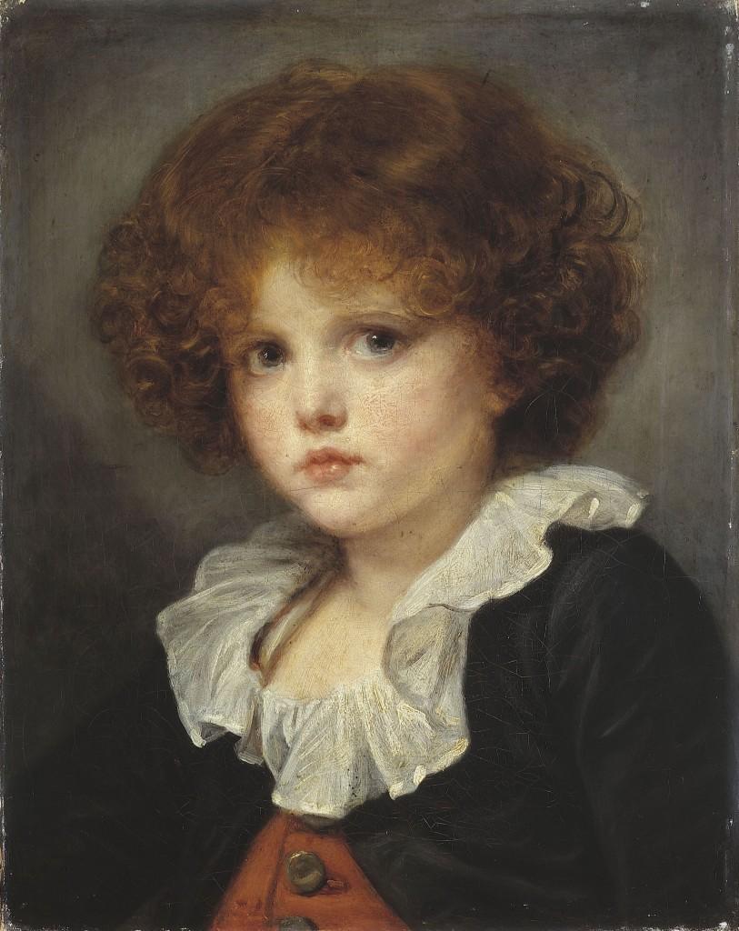 """Jean-Baptiste Greuze. """"Petit garçon au gilet rouge, entre 1775 et 1780"""". Huile sur toile. Paris, musée Carnavalet."""